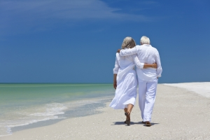 older couple beach lge